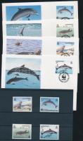 1990 WWF: Tengeri állatok sor Mi 497-500 + 4 FDC