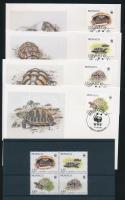 1991 WWF: Hermann teknős négyestömb Mi 2046-2049 + 4 FDC