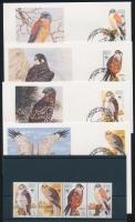 1991 WWF: Sólymok négyescsík Mi 864-867 + 4 FDC