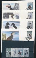 1989 WWF: Tengeri madarak négyescsík Mi 408-411 + 4 FDC