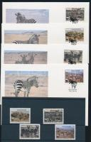 1991 WWF: Hartmann zebra sor Mi 702-705 + 4 FDC