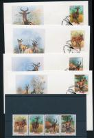1991 WWF: Tehénantilop négyescsík Mi 1231-1234 + 4 FDC
