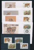 1993 WWF: Szibériai tigris sor Mi 343-346 + 4 FDC