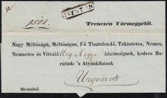 1843 Ex offo TRENTSIN - Ungvár