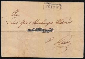1834 Franco TOLNA - PESTH (javított / repaired)