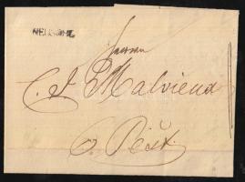 1837 Portós levél NEUSOHL. - Pest