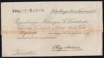 1843 Ex offo FELSŐ_BÁNYA - Nagy-Szöllős