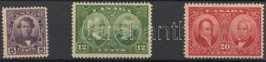 1927 Forgalmi bélyeg sor / Definitive stamp Mi 124-126 (Mi 126 apró szakadás / small tear)