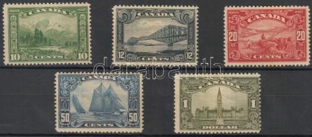 1928 Forgalmi bélyeg sor/ Definitive stamp set Mi 134-138