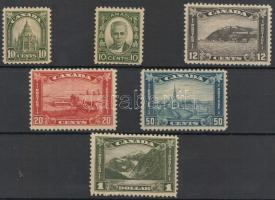 1930-1931 Forgalmi bélyeg sor/ Definitive stamp set Mi 150-155