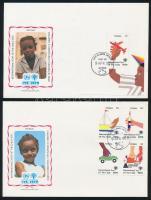 1979 A gyermekek éve sor és blokk FDC-n Mi 538-541 + 42
