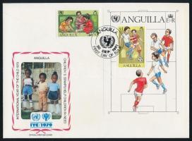 1981 UNICEF bélyeg és blokk FDC-n Mi 449 + 39