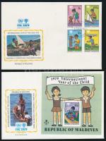 1979 Nemzetközi gyermekév sor és blokk FDC-n Mi 822-825 + 57