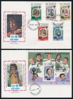 1979 Nemzetközi gyermekév sor és blokk FDC-n Mi 2154-2158 + 133