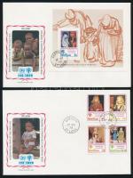 1979 Nemzetközi gyermekév sor FDC-n Mi 462-465 + blokk Mi 17