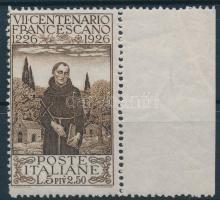 1926 Ferences bélyeg üres mezővel Mi 239