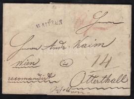 1834 Ajánlott portós levél WAITZEN - Otterthall