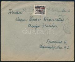 1946 (14. díjszabás) Távolsági levél Betűs III. Távolsági levél/18f bélyeggel bérmentesítve