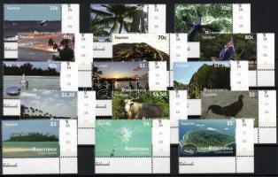 2011 Rarotonga látképek sor Mi 28-42