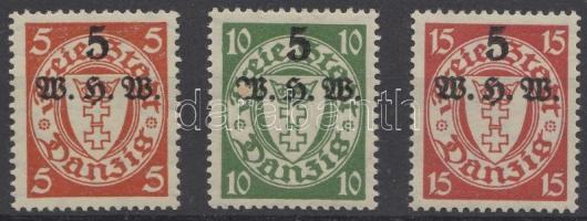 1934 Téli segély Mi 237-239