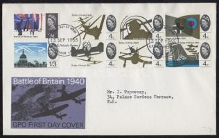 1965 Háborús évforduló sor FDC-n Mi 394-401