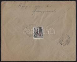 1946 (14. díjszabás) Távolsági levél Betűs (III.) Távolsági levél/ 18f bélyeggel bérmentesítve