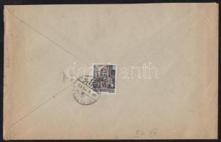 1946 (14. díjszabás) Helyi levél 250g-ig Betűs (III.) Távolsági levél/ 18f bélyeggel bérmentesítve