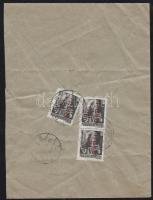 1946 (14. díjszabás) Ajánlott távolsági levél 3x Betűs (III.) Távolsági levél/ 18f bélyeggel bérmentesítve