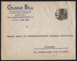 1946 (14. díjszabás) Helyi céges levél Betűs (III.) Helyi levél/ 10f bélyeggel bérmentesítve