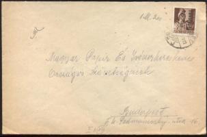 1946 (14. díjszabás) Helyi levél Betűs (III.) Távolsági levelezőlap/ 4f bélyeggel bérmentesítve