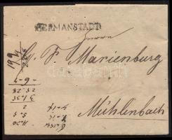 1825 Portós levél HERMANSTADT. - Mühlenbach