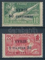 1924 Nyári olimpia: Párizs (I.) felülnyomással / Summer Olympics (I.) with overprint Mi 227-228