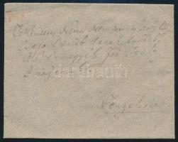 ca 1830 Portós levél / cover with postage due piros / red PAKS - Tengeliz