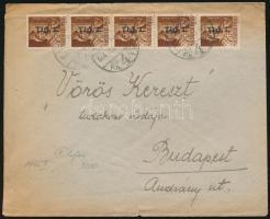 1946 (7. díjszabás) Helyi levél 5x Betűs I. Tlp.I./4f bérmentesítéssel