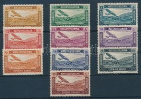1934 Légiposta bélyeg sor / Airmail stamp set Mi 386-395