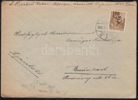 1946 (7. díjszabás) Távolsági levél Betűs I. Tl.I./10f tévesen a 6.díjszabás bérmentesítéssel