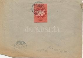 1946 (7. díjszabás) Helyi levél 250g-ig Köztársaság 3ezerP bérmentesítéssel