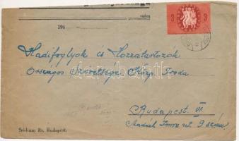 1946 (7. díjszabás) Távolsági levél Köztársaság 3ezerP bérmentesítéssel