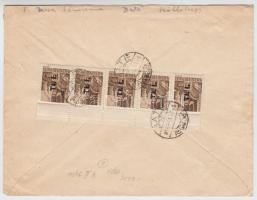 1946 (7. díjszabás) Távolsági levél 5x Betűs I. Tl.I./10f bérmentesítéssel