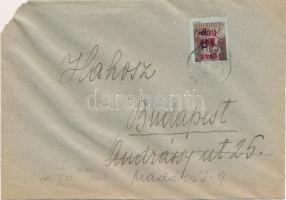 1946 (7. díjszabás) Távolsági levél Betűs II. Tl.2./10f bérmentesítéssel (bal felső sarok letépődött)