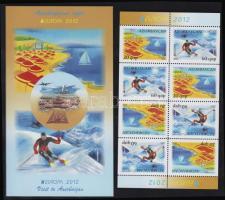 2012 Europa CEPT Látogatás, turizmus Mi 915-916 bélyegfüzet