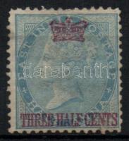 Straits Settlements 1867 Forgalmi bélyeg felülnyomással Mi 1