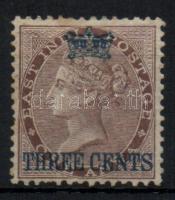 Straits Settlements 1867 Forgalmi bélyeg felülnyomással Mi 3