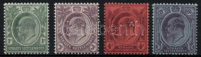 Straits Settlements 1903/1904 Forgalmi sor / Definitive set Mi 92-95