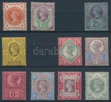 1887 Mi 86-87 + 89-90 + 92-97