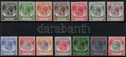 1936/1937 Definitive set without closing value, 1936/1937 Forgalmi sor záróérték nélkül