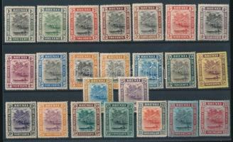 1907/1920 Forgalmi sor 1907/1920 Definitive set