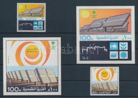 1984 Nap falu Al-Eyenah sor Mi 784-785 + vágott blokk Mi 18-19