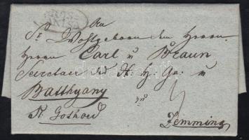 1839 Portós levél GROS= / CANISA - Zemming