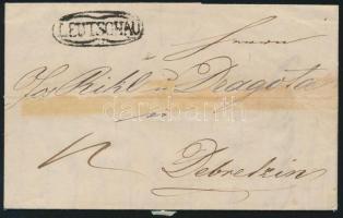 1846 Portós levél LEUTSCHAU - Debretzin